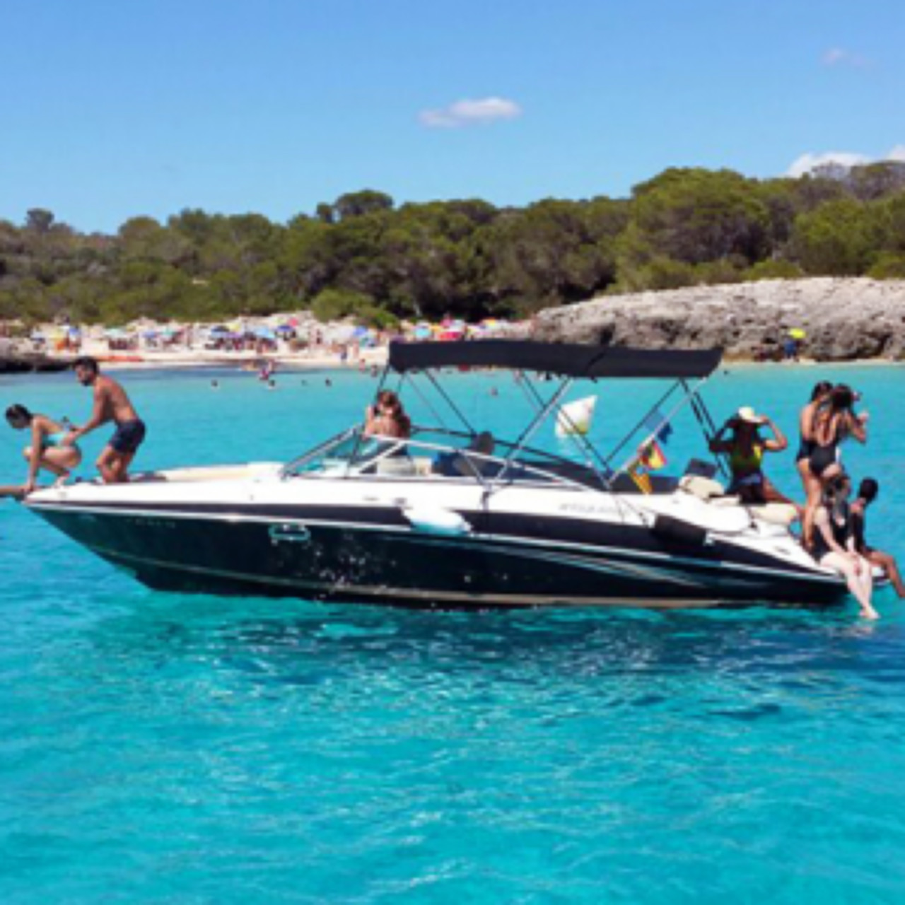 Boat tours south coast of Menorca. Cala Galdana